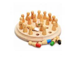 Деревянная развивающая игра Lesko DL-002 Memory Chess для детей