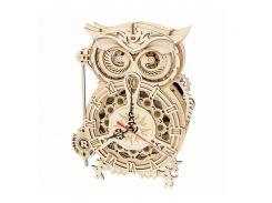 Деревянный 3D конструктор Robotime LK503 Owl Clock для детей и подростков