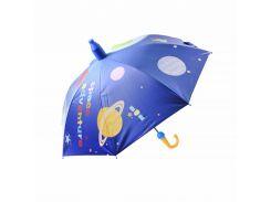 Детский зонт Lesko QY2011301 Space Adventures (космос) трость автоматический с пластиковым чехлом