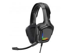 Проводная гарнитура ONIKUMA K20 Black наушники для ПК геймеров 1+2/3.5мм + USB RGB