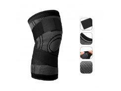 Компрессионный наколенник AOLIKES HX-7720 Black XL эластичный бандаж для коленного сустава
