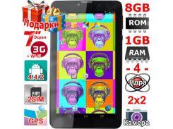 Планшет Lesko Tab 7 2 sim 7 дюймов HD 1024х600 3G GPS 2 сим 1/8Gb 3000 mAh