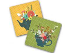 "Подставка под горячее ""Floral Greetings"" (2 разных) (3 фото)"
