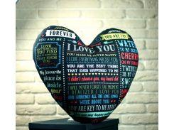 Подушка в форме сердца XXL I love you