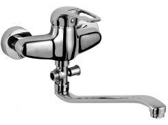 Смеситель для ванны однорычажный, излив 350 мм, хром 40мм ROZZY JENORI PILOT (RBZ033-9A)