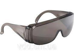 Окуляри захисні відкритого типу, затемнені, ударостійкий полікарбонат, СИБРТЕХ 89156 // Очки защитные