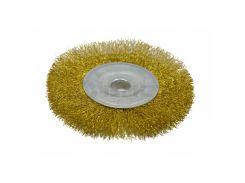 Щітка-крацовка дискова латунна 150х22,2мм Spitce 18-054 | дисковая латунная