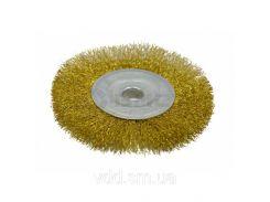 Щітка-крацовка дискова латунна 125х16мм Spitce 18-055 | дисковая латунная