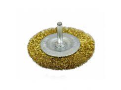 Щітка-крацовка дискова латунна зі шпилькою, 100 мм Spitce 18-062 | дисковая латунная шпилькой