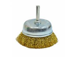 Щітка-крацовка Чашка латунна зі шпилькою, 50 мм Spitce 18-082 | латунная шпилькой