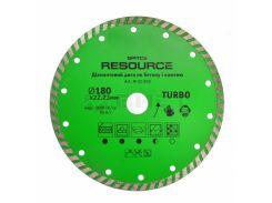 Алмазний диск TURBO , 180мм, Resource Spitce 22-830 | алмазный