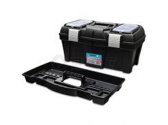 Ящик для інструментів пластмасовий 18 , металева защібка 455х240х225мм Berg 52-557 | инструментов пластмассовый металлическая защелку