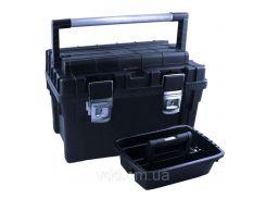 Ящик для інструментів пластмасовий 24 , металева защібка, 595x345x355мм Berg 52-561 | инструментов пластмассовый металлическая защелку
