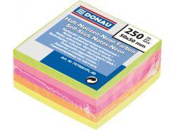Блок бумаги с клейким слоем 50х50/250л, DONAU 7575001PL
