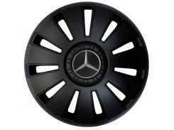 """Kenguru Колпаки для колес Rex Mercedes Черные R15"""" (Комплект 4 шт.)"""