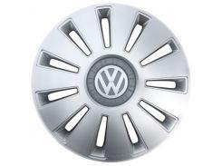 """Kenguru Колпаки для колес Rex Volkswagen Серые R15"""" (Комплект 4 шт.)"""