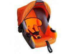 детское автокресло siger эгида группа 0+, до 13 кг оранжево-серый (kres0069)