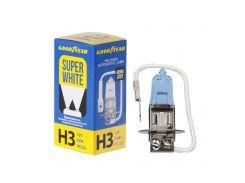 Лампа автомобильная галогенная Goodyear H3 12V 55W PK22s Super White