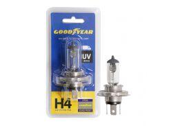 Лампа автомобильная галогенная Goodyear H4 24V 75/70W P43t (блистер)