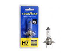 Лампа автомобильная галогенная Goodyear H7 12V 55W PX26d (блистер)