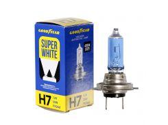 Лампа автомобильная галогенная Goodyear H7 12V 55W PX26d Super White