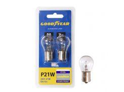 Лампа накаливания автомобильная Goodyear P21W 24V 21W BA15s (блистер: 2 шт.)