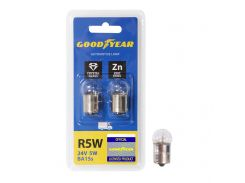Лампа накаливания автомобильная Goodyear R5W 24V 5W BA15s (блистер: 2 шт.)