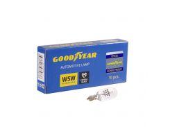 Лампа накаливания автомобильная Goodyear W5W 12V 5W W2.1x9.5d (коробка: 10 шт.)
