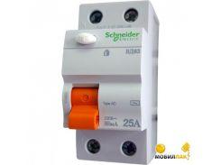 Дифференциальный автоматический выключатель Schneider ВД63 2П 25A 300МA (11451)