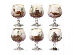 Набор бокалов Lefard для коньяка Охота 6 шт 250 мл Розовый (615-4371)
