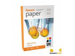 Бумага ColorWay глянцевая 200г/м2, A4, 100л карт.уп. (PG200100A4)