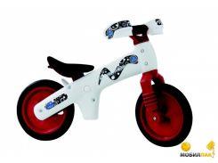 Детский велосипед Bellelli B-Bip Pl обучающий бело-красный 2-5лет (беговел) (BIC-77)