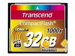 Карта памяти Transcend Compact Flash 32GB (1000X) (TS32GCF1000)