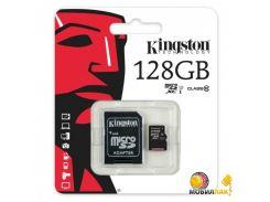 Карта памяти Kingston microSDHC 128GB Class 10 UHS-I (SDC10G2/128GB)