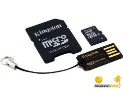 Карта памяти Kingston microSDHC 32GB Class 10 (adapter SD + USB reader) (MBLY10G2/32GB)