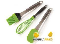 Набор кухонных силиконовых лопаток BergHoff Зеленые 8500511 3 предмета