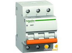 Автоматический выключатель Schneider Electric ВА63 3П 63A C (11229)