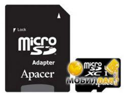 Карта памяти Apacer microSDXC 64GB Class 10 (adapter SD) (AP64GMCSX10U1-R)