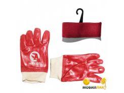 Перчатки маслостойкие красные Intertool SP-0006W