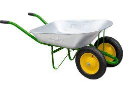 Тачка Palisad садовая, два колеса, грузоподъемность 170 кг, объем 78 л (68922)