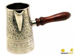 Турка Даршан бронзовая посеребренная в футляре Turky Coffee 19х9,5х11 см (28343)