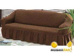 Чехол для дивана Arya Трехместный Burumcuk 1063212 коричневый