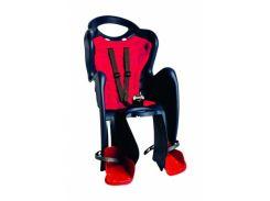 Сиденье заднее детское Bellelli Mr Fox Relax B-Fix до 22 кг Черное с красным