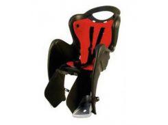 Сиденье заднее детское Bellelli Mr Fox Standart B-Fix до 22 кг Черное с красным