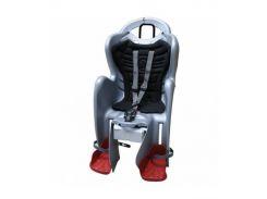 Сиденье заднее детское Bellelli Mr Fox Relax B-Fix до 22 кг Cеребристое с черным