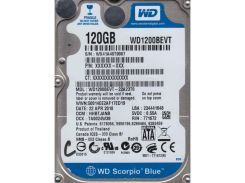 Накопитель HDD Western Digital 2.5 SATA 120GB Scorpio Blue 5400rpm 8MB (WD1200BEVT)