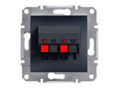 Розетка акустическая Schneider Electric Asfora Антрацит (EPH5700171)