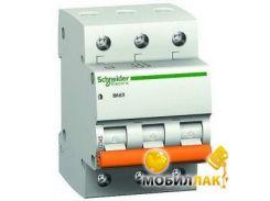 Автоматический выключатель 3-полюсный Schneider Electric BA63 3P 25A C 11225 (10026344)
