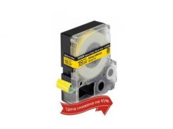 Картридж с лентой Epson LK5YBW 18mm/9m Strong Adhesive Black/Yellow (C53S655010)