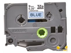 Лента Brother 12mm Laminated Blue, Print Black (TZE531)